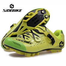 SIDEBIKE Profesional Hombres Mujeres Mountain Bike Racing Athletic Shoes Transpirable Bicicleta MTB Deportes Autobloqueantes Zapatillas