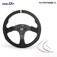 Pivot 14 Inch 350mm Racing Car OM Racing Car Steering Wheel Suede Leather Drifting Steering Wheels