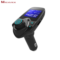 Matchstick T11 Bluetooth 3.0 Handsfree Car Kit ,FM Transmitter MP3 Aux Music Player Dual USB Car Charger Support TF Card U Disk