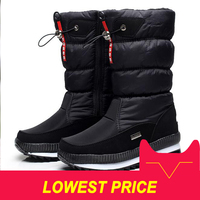 New 2019 women's boots platform winter shoes thick plush non slip waterproof snow boots for women botas mujer