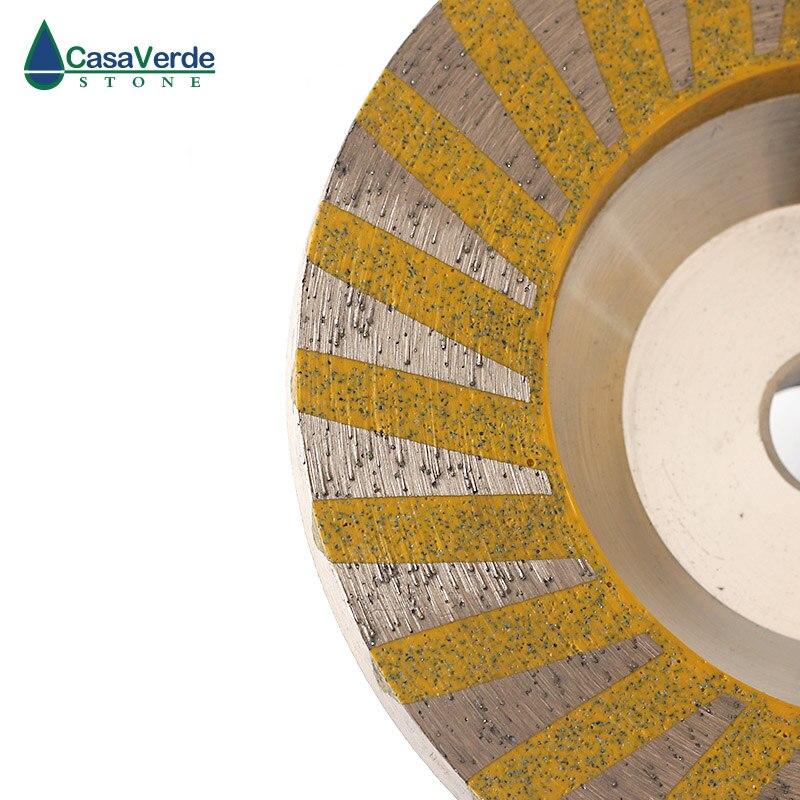Livraison gratuite 3 pièces/ensemble diamant turbo résine remplissage aluminium corps coupe roues 4 pouces pour la pierre de meulage - 3