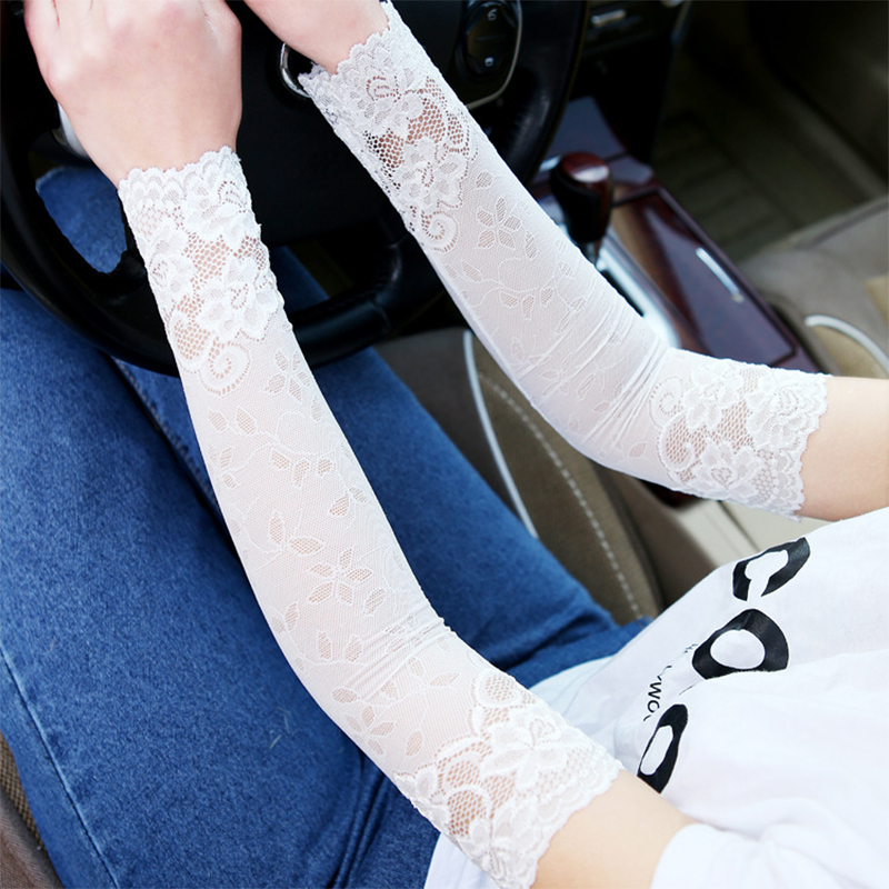 Zebery 2pcs Mesh Arm Sleeve Breathable Bracers Anti-uv Mesh Solid Color Woman Arm Sleeve Clothing Accessories Women's Arm Warmers
