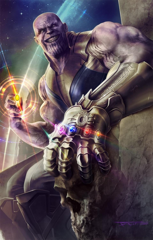 Avengers Infinity War Marvel pintura de la lona del arte del - Decoración del hogar