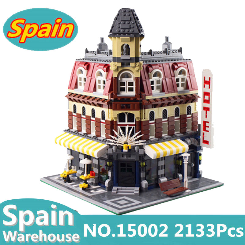 15002 16007 City Street View Hotel Cafe Corner Haunted House Building Blocks Creator Architecture Castle 10182