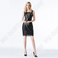 f82358d3a Great Gatsby Dress Women Sequins Dress Party Sexy 1920s Dresses Vintage  Beaded Flapper Embellished Art Deco