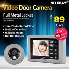 """Top-venta mirilla timbre con cámara espectador de la puerta de 3.0 """"de pantalla lcd + detección de movimiento + visión nocturna por INFRARROJOS"""