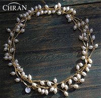 Chran Promotion Item! Luxury Multiple Layer Freshwater Pearl Necklace For Women Chunky Statement Bridal Necklace Jewelry 150cm