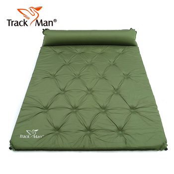 Trackman 2Persons Outdoor Self-Inflating Sleeping Pad With Pillow Camping Tent Mat Travel Moisture-proof Mat Thick 5cm TM2114