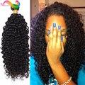 Бразильский Kinky Вьющиеся Волосы Девственницы 3 ШТ. 8А Deep Курчавый Бразильский волосы Связки Rosa Продукты Волосы Афро Кудрявый Вьющиеся Волосы Человека переплетения