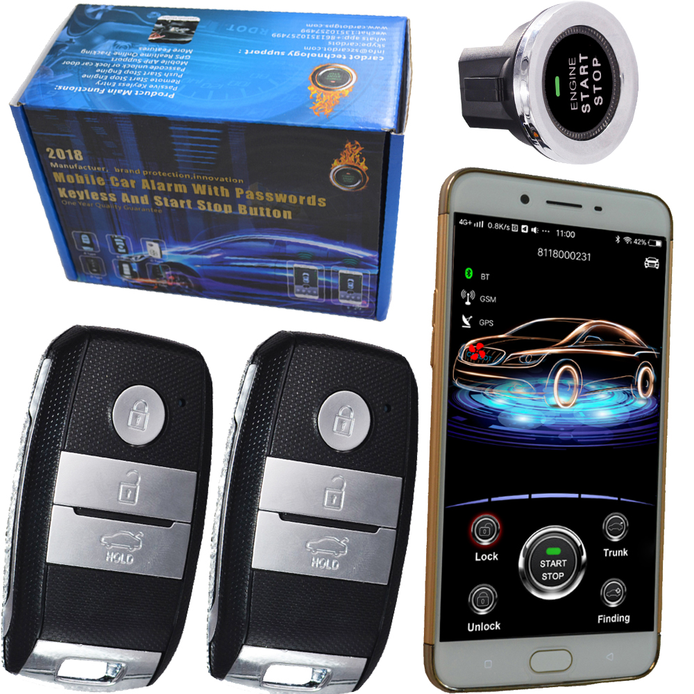 gsm car alarm security system mobile app