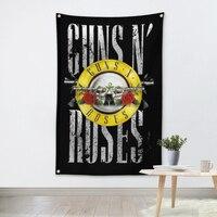 GUNS N ROSES Muziek Band Team Logo Doek Poster Banners Vier-Hole Vlag Slaapzaal Slaapkamer Wanddecoratie