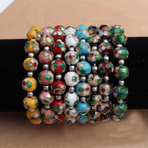 Gros 20 PCS magnifique chinois main boutons de manchette en émail cloisonné Bracelets bracelet