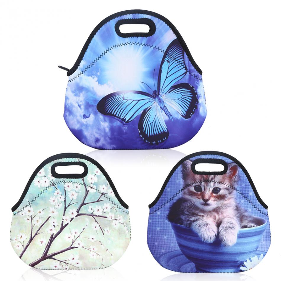 3 Types Insulated Neoprene Lunch Storage Bag Tote Picnic Handbag Food Container For Women Kids Can Keep Warm