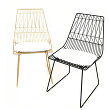 100% Metal Iron Leisure Chair Gold Chair Metal Living Room Furniture Fashion Gold Black Dining Chair Bar Chair