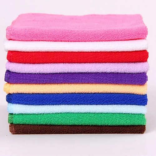 5 teile/paket Waschen Tücher Geschirrtücher Lumpen Handtuch Bambus Faser Haus Reinigung Tücher Bambus Servietten Mikrofaser Reiniger Gadgets