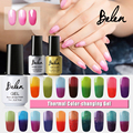 Belen 100pcs/set UV Gel Nail Polish Paint That Changes Color UV Gel Nail Polish Vernis Semi Permanent Gel Lak DHL Free Shipping