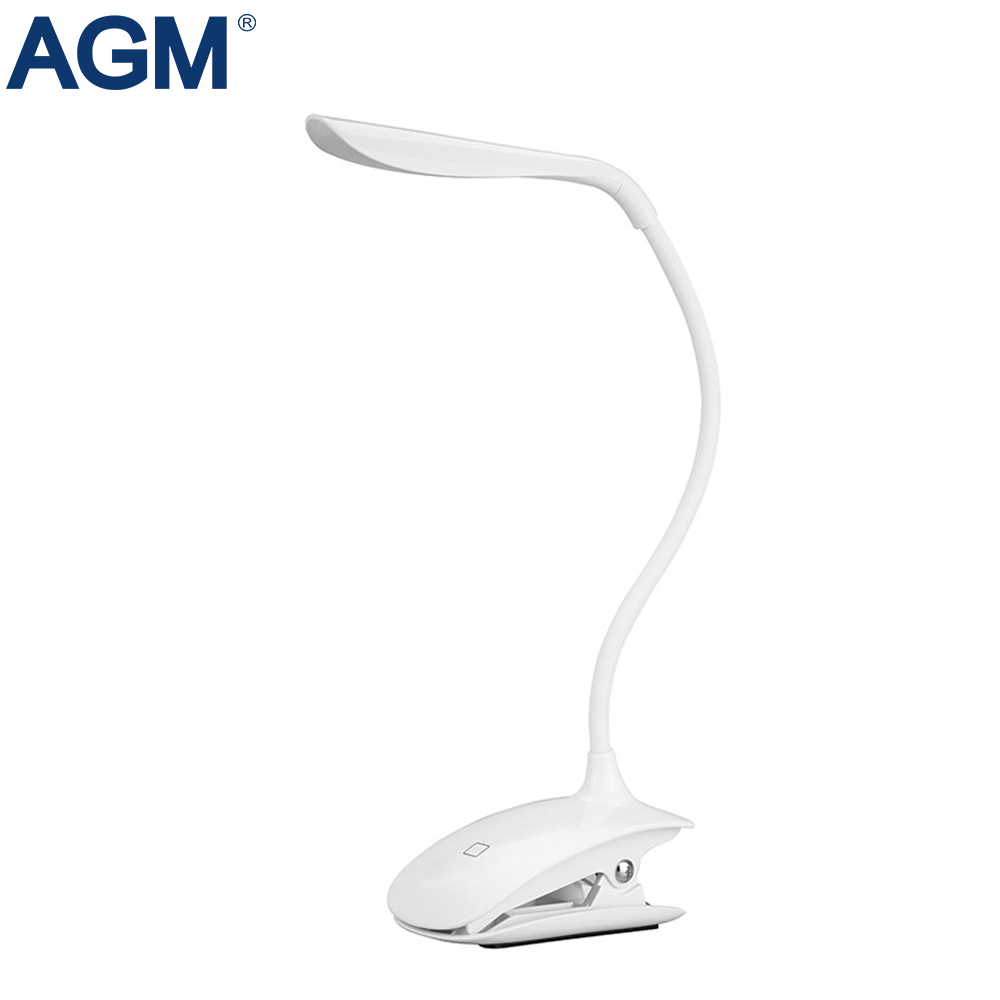 16 LED Table Lamp Desk Reading Light Dimmable Modern Adjustable USB Folding Flexible Touch Sensor Clip Lights For Bedroom Study