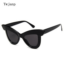 Ywjanp Vintage Cat eye Sunglasses Women Eyewear Brand Designer Retro Sunglass Female Oculos de sol UV400 Black Sun glasses