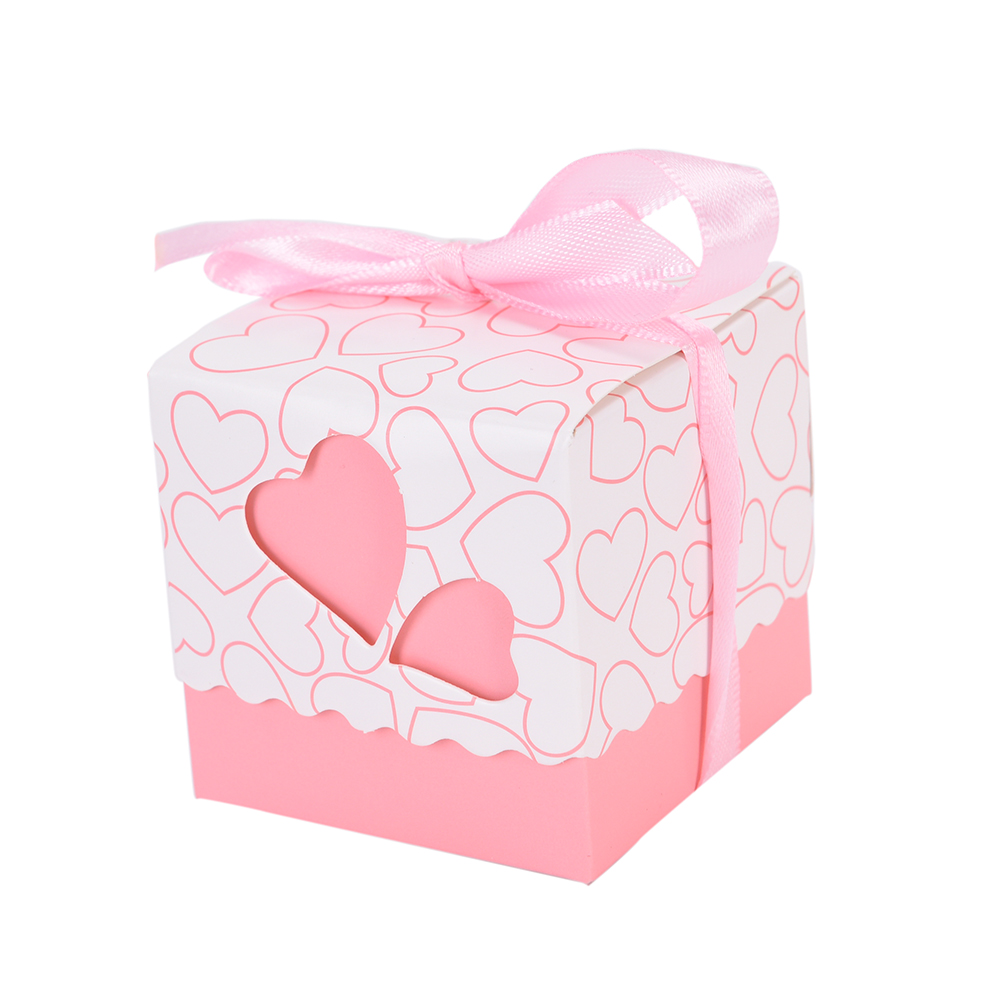15 Pcs Heart Wedding Favor Candy Box with Ribbon marriage supplies ...