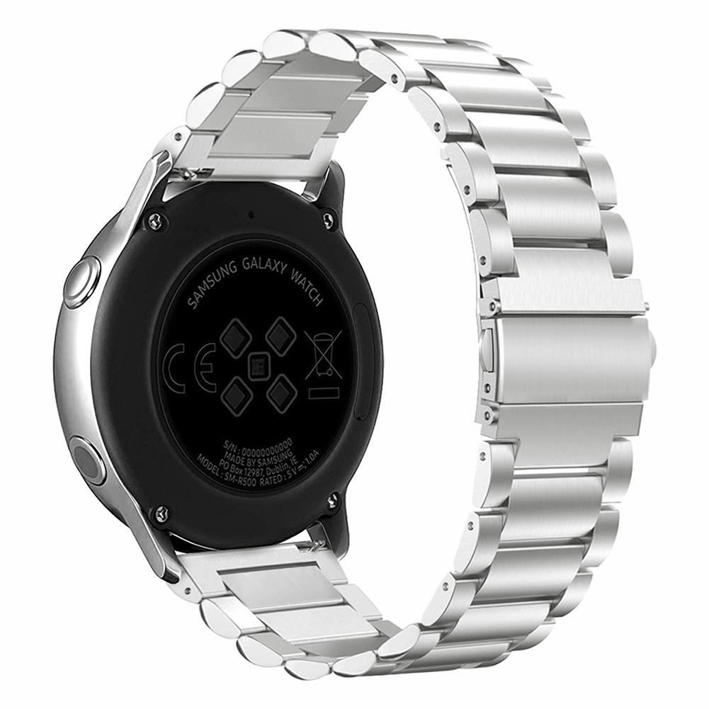 Image 4 - New 20mm Quick Release Stainless Steel Metal Bands Replacement Strap Compatible For Samsung Galaxy Watch Active Bands-in Smart Accessories from Consumer Electronics