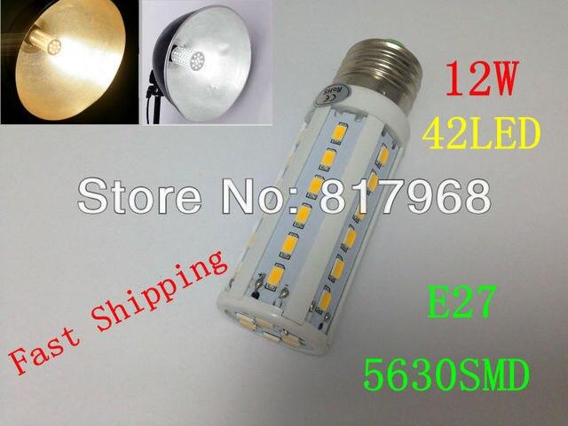 5630 42leds 200-240V/AC 12w 1260lm E27 corn bulb CE&RoHS certificated