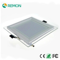 High Quality Aluminum+Glass LED Panel Light Square 6W 12W 18W LED Ceiling Recessed Downlight AC85-265V