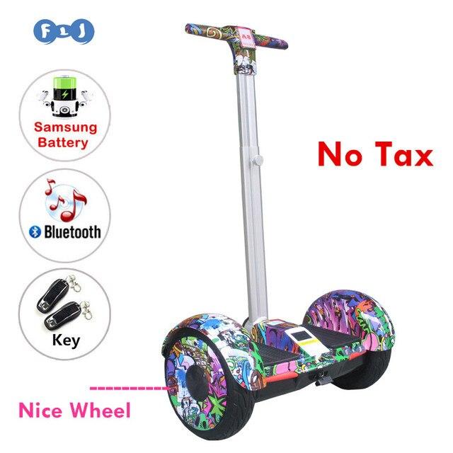 Flj хороший колеса 10 дюймов ХОВЕРБОРДА балансируя Smart колеса электрический самокат с ручкой Bluetooth Динамик развития ключевых