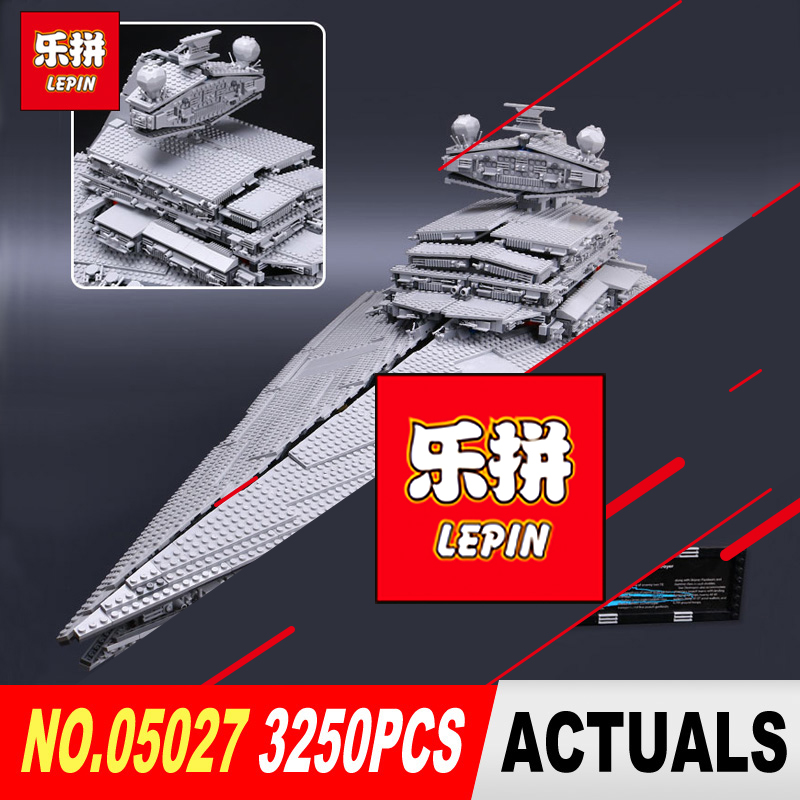 DHL LEPIN 05027 3250Pcs Star Series Wars Classic Emperor fighters starship Model Building Blocks Bricks Toy Compatible 10030 new lepin 05027 3250pcs star wars imperial star destroyer model building kit blocks bricks compatible legoed toys 10030