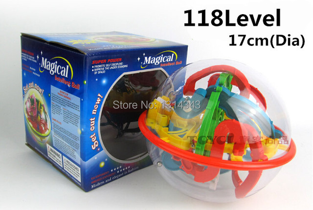 3D Magic Maze Ball 118 Level Intellect Ball Children Educational Toy Orbit Intelligence Christmas New year Gift Puzzles