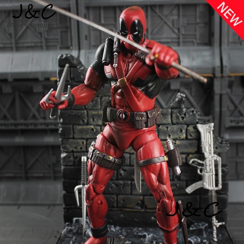 7 19 cm PVC The Avengers Super Hero Justice league X-MAN Deadpool Action Figure jouets Collection Modèle Jouet De Noël cadeau