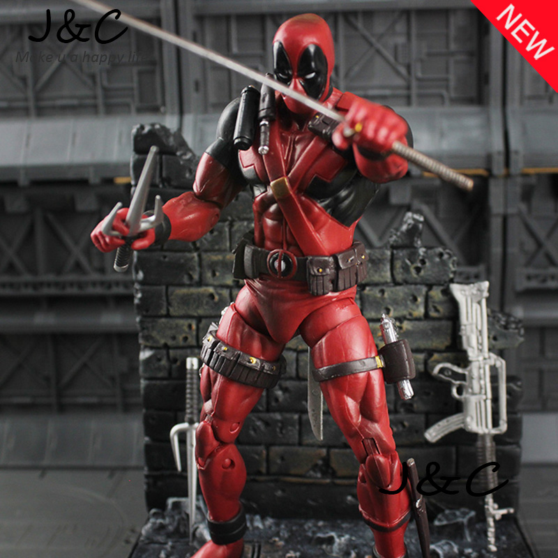 7 19cm PVC The Avengers Super Hero Justice league X-MAN Deadpool Action Figure toys Collection Model Toy Christmas gift