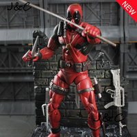 7 19cm PVC The Avengers Super Hero Justice league X MAN Deadpool Action Figure toys Collection Model Toy Christmas gift