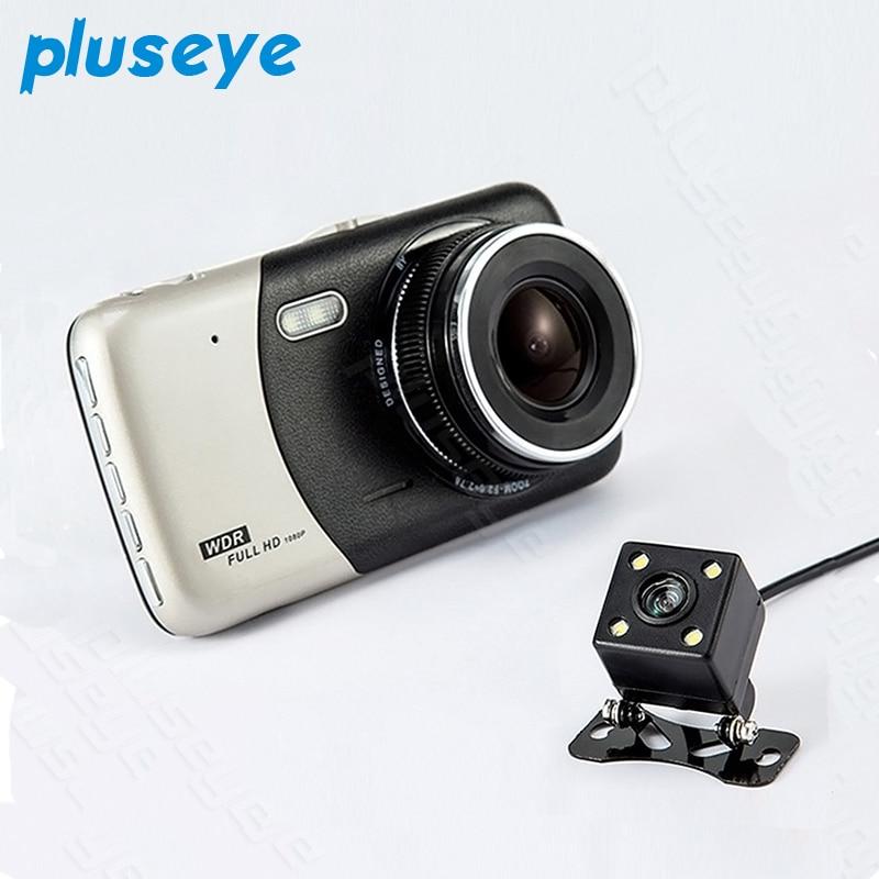 pluseye Car DVR 4.0 Inches HP 1080P Dual Lens Night Vision G-sensor dash cam free shipping