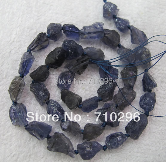 Natural Iolite gem stone Chips beads 8-10mm gem stone rough stone loose Beads.5strings/lot