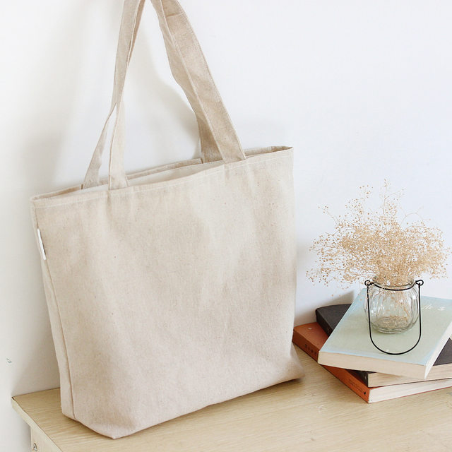 Blank Canvas Bag Plain Shoulder Bags Shopping Solid Shopper School Book Free Shipping