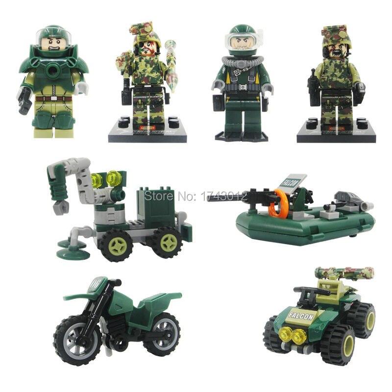 Star Wars action Building Bricks SY246 Falcon Commandos Scout/Artillery/Sniper Military Soldiers Blocks 4pcs/set Children Toys