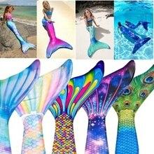 2019Gilding Mermaid Tail Princess Ariel Bikini Swimsuit New Swimwear 2pcs Little Dress Costume