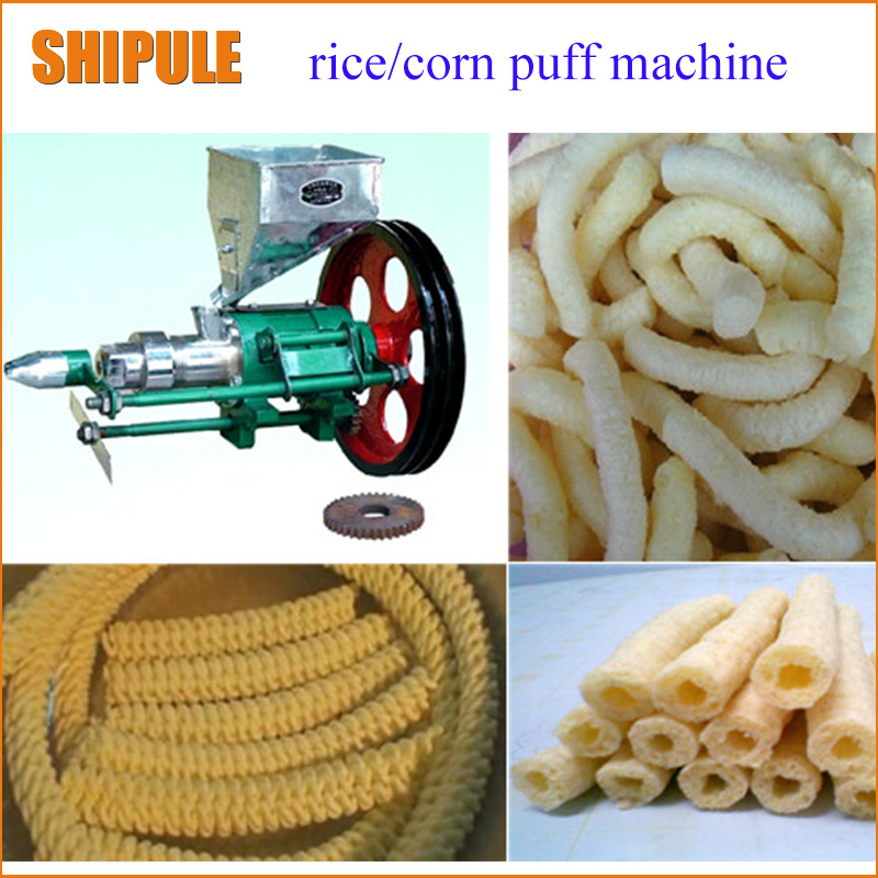 SHIPULE Puffed Corn Snacks Making Machine with 7 mould free shipping commercial corn puffed machine food bulking extruder machine rice snacks making machine zf