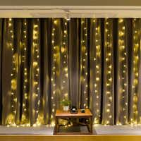 JSEX LED Vorhänge Fee Lichter Weihnachten Deal Licht String Lichter 3x2/3x3/3x1/6x3/2x2 Girlande Neue Jahr Dekorationen