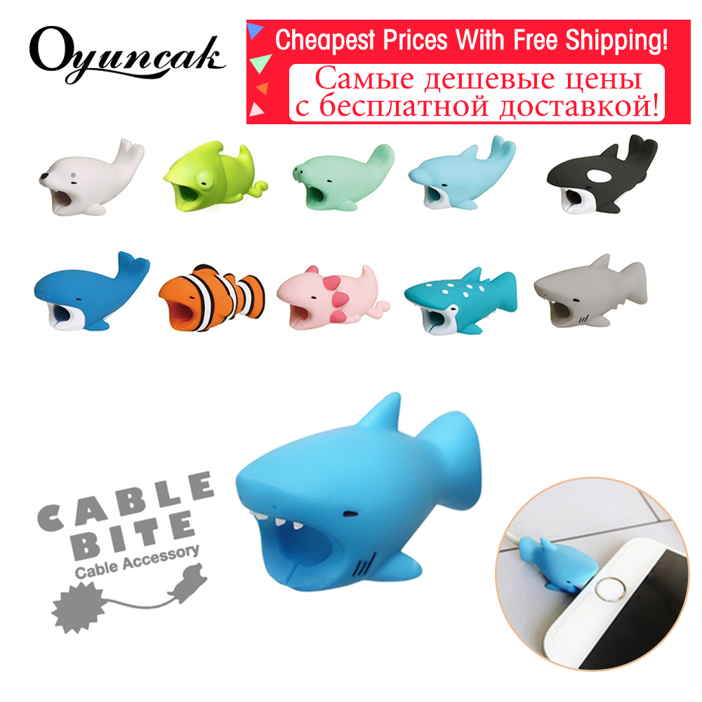 Oyuncak Animal Cable Protector Cable Bite Novelty Chompers Protector For Iphone Cute Gadget Biters USB Organizer Phone Accessory