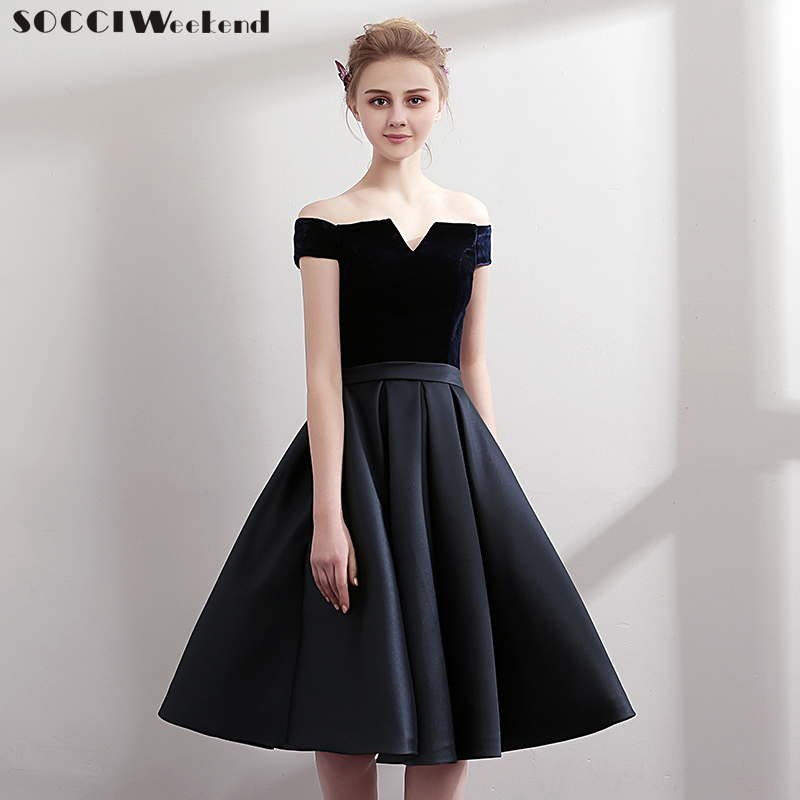 SOCCI Short Black   Cocktail     Dresses   2018 Burgundy Sleeveless for Women Elegant Formal Evening Party   Dress   Sexy Robe De Gowns New