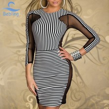 Bebling 2015 Women's Casual vestido de renda curto Party Winter Sexy Bodycon Evening Clothing Free Shipping sexy dresses 19-118