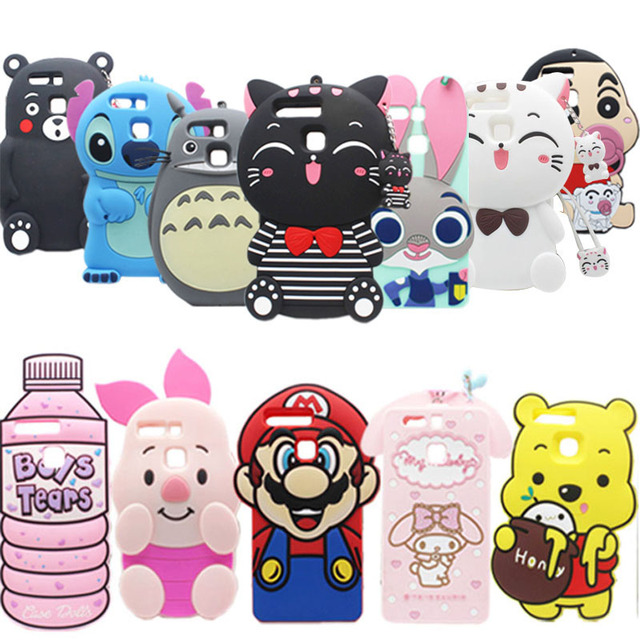 check out 2c13a 6692f 21 Types For Huawei Honor 8 Case Lovely Cute 3D Cartoon Soft Silicon Cover  For Huawei Honor 8 Mobile Phone Bag Phone Cases