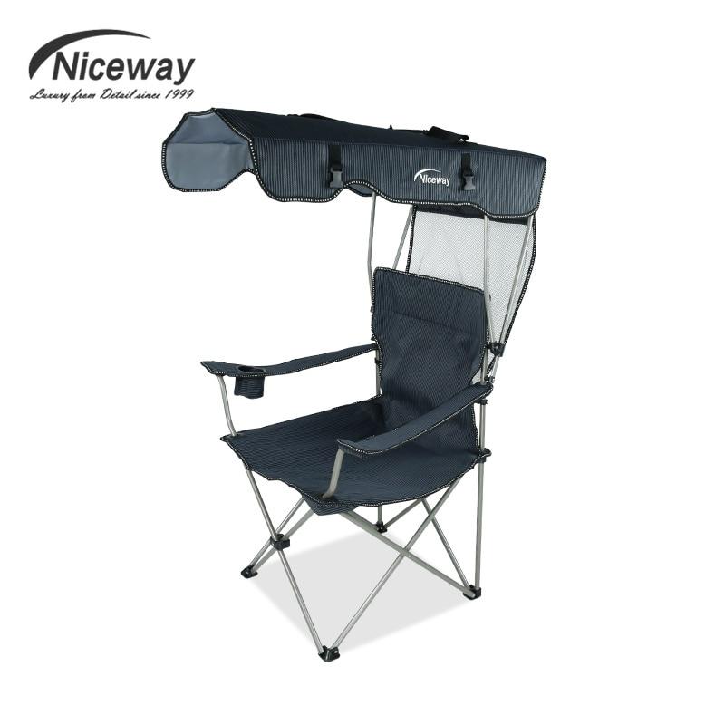 Silla de pesca port til con sombrilla silla plegable para - Silla para la playa ...