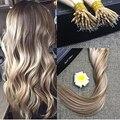 Полный Блеск Prebonded Наращивание Человеческих Волос Блондинка Подчеркивается Цвет #10 и #613 Наращивание Волос 0.8 г На Каждый Блок 50 100strands В Упаковке