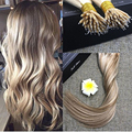 Full Shine Prebonded Human Hair Extensions Blonde Highlights Color #10 and #613 Extensions 0.8g Per Strand 50 Strands Per Pack