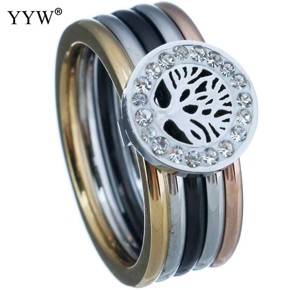Vinatge Men Bands Ring Anel Masculino Classic Tree Of Life Stainless Steel Ring Casual Anillos Fashion Jewelry For Women Gift