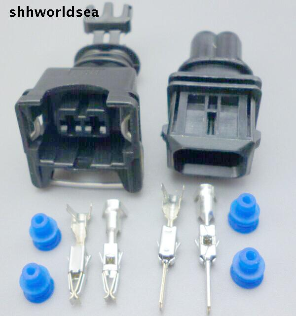 5 set EV1 Fuel Injector Plug Car Waterproof 2 Pin way Electrical Wire Connector Plug automobile Connectors