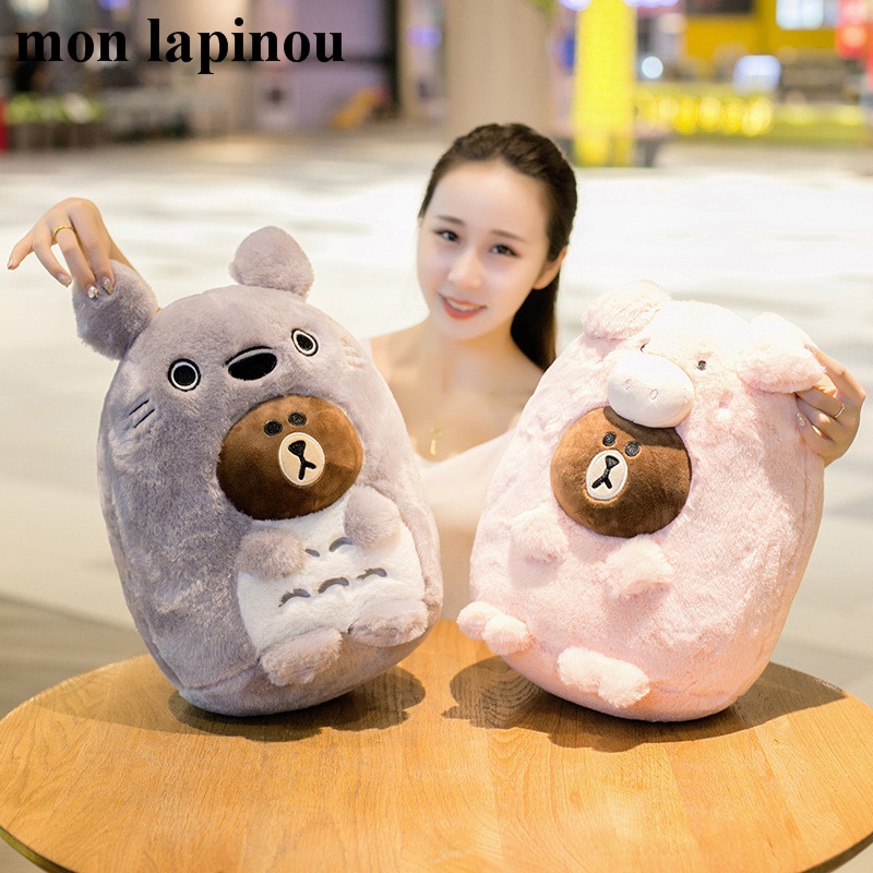 Mon Lapinou plush bear toys brown bear cosplay Totoro Husky Pig Japanese anime soft doll stuffed