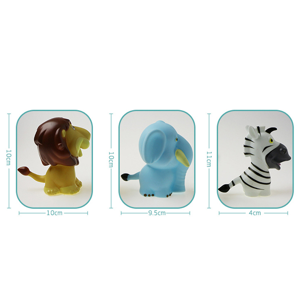 Baby Bath Toys Finding Rubber Creatures Animals Water Toy Baby Bathroom Pool Bath Toy Accessory For Kid A503